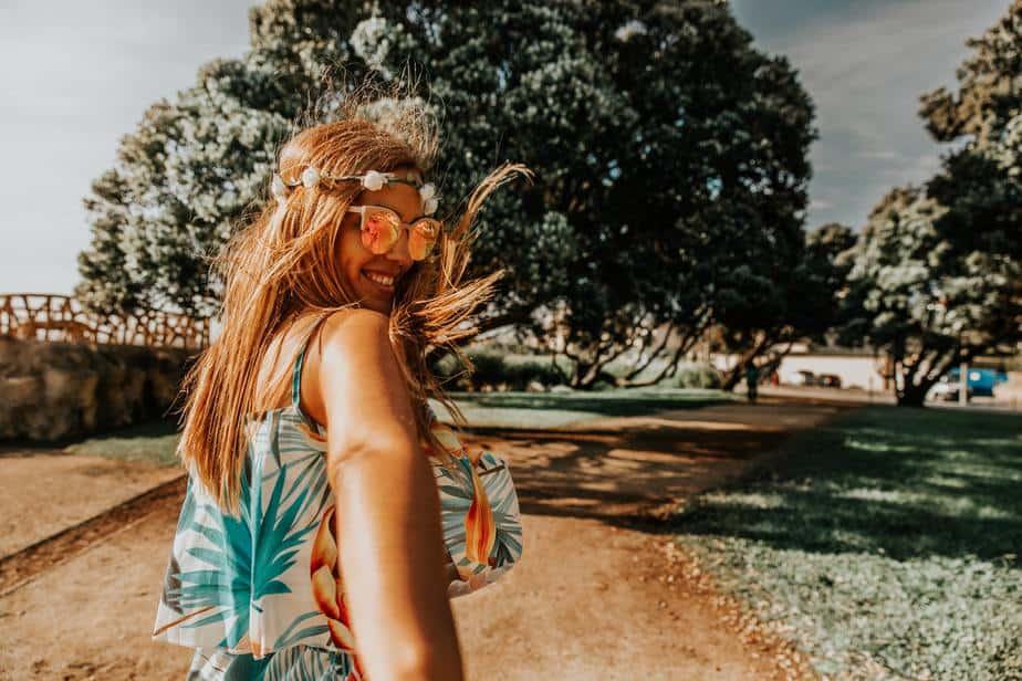 Vrouw wat wind op een 15 tips
